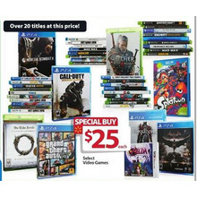 PS4 Video Games $25 (Select)