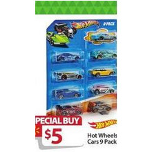 Hot Wheels Cars (9 pack)