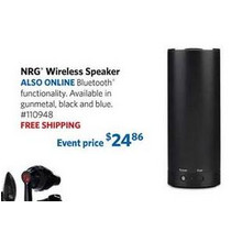 NRG Wireless Bluetooth Speaker (Gunmetal)