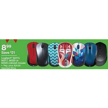 Logitech M320 Mouse (Assorted Colors)
