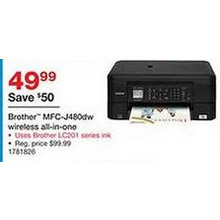 Brother MFC-J480dw Wireless All-in-One Printer