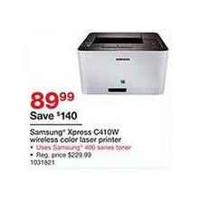 Samsung Xpress C410W Wireless Color Laser Printer