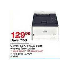 Canon LBP7110Cw Color Wireless Laser Printer