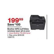 Brother MFC-L2740dw Wireless laser All-in-One Printer