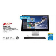 "HP Pavilion 23"" All-in-One Desktop w/ Intel Core i3, 1TB HDD, 4GB RAM, Win 10 Home (23-q116)"