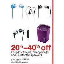 Phillips Headhphones (Assorted) - 20-40% Off