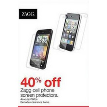 Zagg Cell Phone Screen Protectors (Assorted) - 40% Off