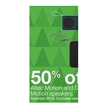 Altec Motion Speakers - 50% Off