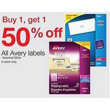 Avery Labels (Assorted) - BOGO 50% Off