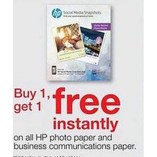 HP Photo Paper - BOGO Free