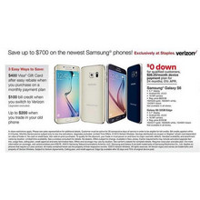 Verizon Samsung GALAXY S6 32GB (Gold) - Up To $700 Off