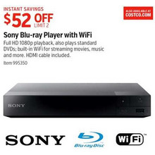 Sony Blu-Ray Player w/ Wi-Fi $52.00 Off