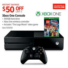 Xbox One 500GB Console Bundle w/ The Lego Movie Game (XONE) $50.00 Off
