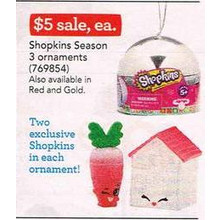 Shopkins Season 3 Ornaments (Gold)