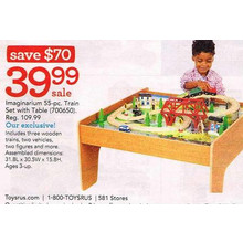 Imaginarium 55-pc. Train Set w/ Table