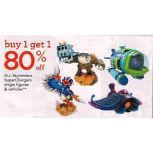 BOGO 80% Off Skylanders SuperChargers Single Figures