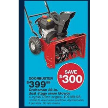 Craftsman 22-in. Dual-Stage Snow Blower