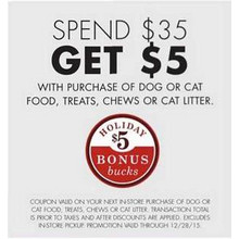 Free $5 GC w/ Purchase of Cat Litter $35.00+