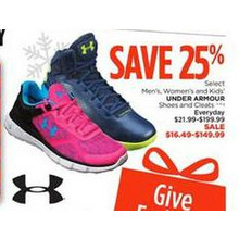 Under Armour womens Shoes (Select Styles) - $16.49 - $149.99