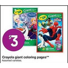 Crayola Giant Coloring Pages (Assorted)