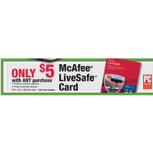McAfee LifeSafe Card $5 w/ Any Purchase