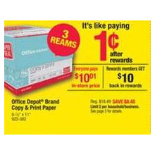 Office Depot Brand 3 Ream Copy & Print Paper