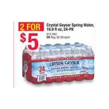 Crystal Heyser Spring Water (24-pk.) 2 FOR $5.00