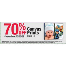 Canvas Prints (12-in. x 16-in.) 70& OFF