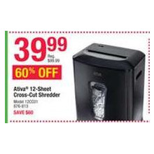 Ativa 12-Sheet Cross-Cut Shredder