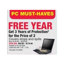 Get 3 Years of Protection for the Price of 2 Years on PCs over $3000.00 $50.00 OFF