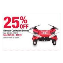 Remote Controlled Drones 25% OFF