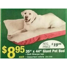 Giant 35-in. x 44-in. Sherpa Bet Bed (Assorted Colors)
