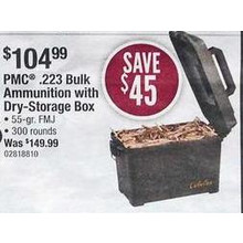 PMC .223 Bulk Ammunition w/ Dry-Storage Box