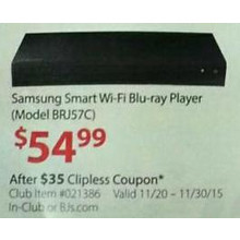 Samsung Chart Wi-Fi Blu-ray Player