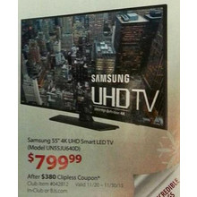 "Samsung 55"" 4K 120Hz LED Smart HDTV (UN55JU640D)"