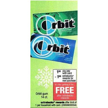 Orbit Gum + $1.00 Back w/Extrabucks