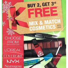 CoverGirl Cosmetics (Select) B2G1 Free