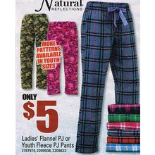 Natural Reflections Kids Fleece PJ Pants (Assorted)
