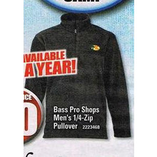 Bass Pro Shops Mens 1/4 Zip Pullover (Assorted)