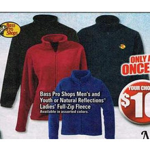 Bass Pro Shops Mens Full Zip Fleece (Assorted)