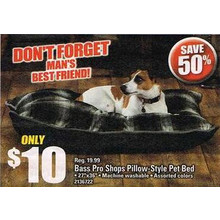 Bass Pro Shops Pillow-Style Pet Bed