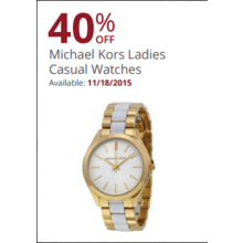Michael Kors Womens Casual Watches 40% Off
