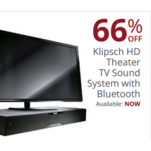 Klipsch HD Theater TV Sound System w/ Bluetooth 66% Off