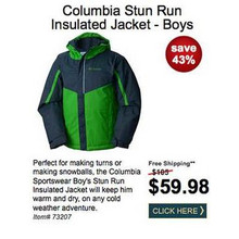 Columbia Mens Stun Run Insulated Jacket
