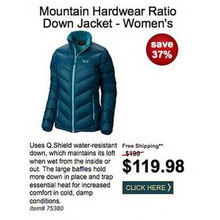 Mountain Hardwear Womens Ration Down Jacket