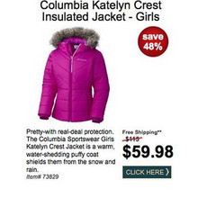 Columbia Girls Katelyn Crest Insulated Jacket
