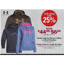 Under Armour Rival Hoodies (Assorted) 25% Off