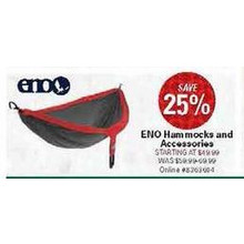 ENO Hammocks 25% Off