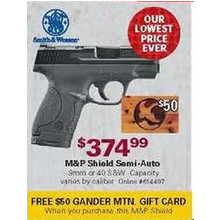 Smith & Wesson M&P Shield Semi-Auto Handgun + Free $50 Gift Card