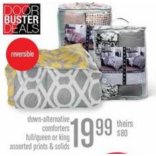 Down Alternative King Comforters (Assorted)